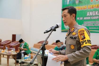 Hadiri PKD GP Ansor, Kapolres Inhil Sampaikan Materi Terkait Peran Generasi Muda dalam Kamtibmas