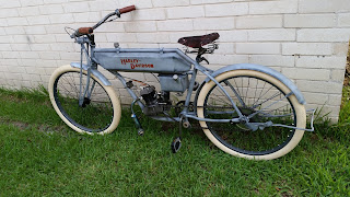 1910 Harley Board Track Replica Motorized Bike
