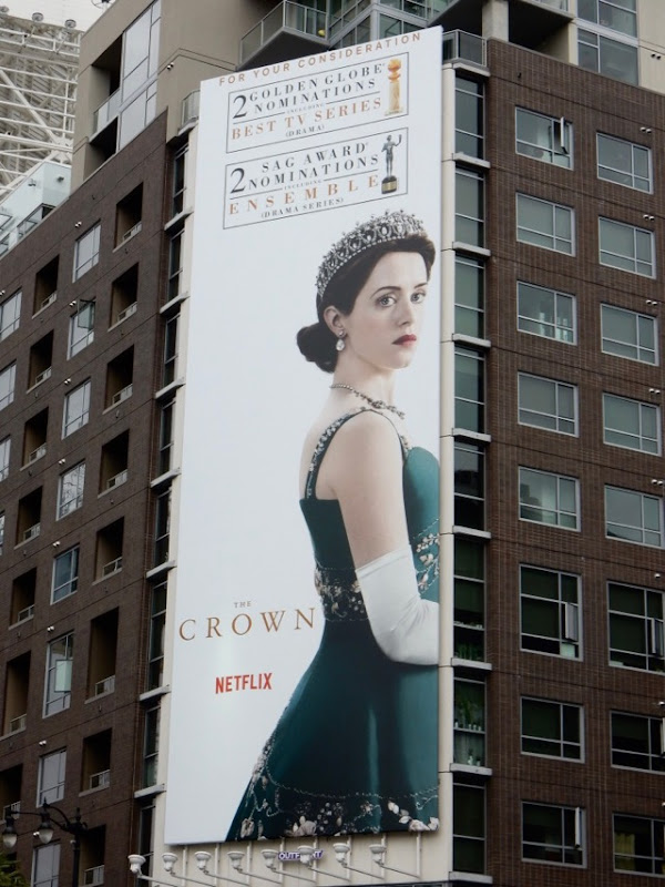 Crown season 2 Golden Globes SAG Awards billboard