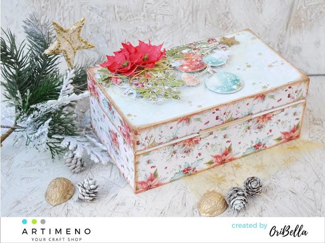 697. Świąteczne pudełko na świąteczny upominek.