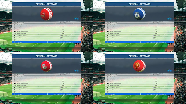 PES 2017 BallPack 4 Teams by Huyndat