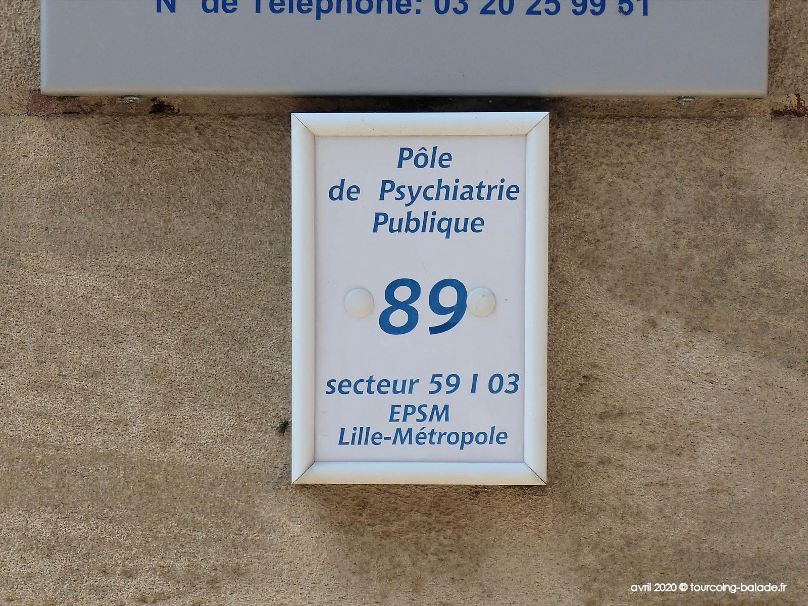 Pôle de Psychiatrie Publique, Tourcoing 2020