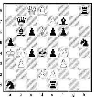 Problema de mate en 2 compuesto por Jacobus Haring (1º Premio, Schach-Echo 1982)