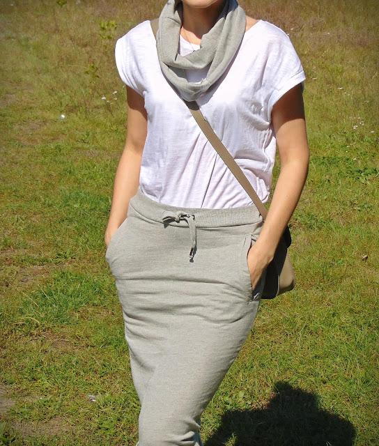 spódnica ze spodni dresowych