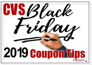 cvs black friday 2019 coupon and shopping tips