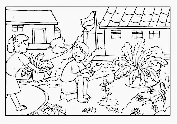 Contoh Gambar Gambar Mewarnai Untuk Anak Sd Kelas 6 - KataUcap