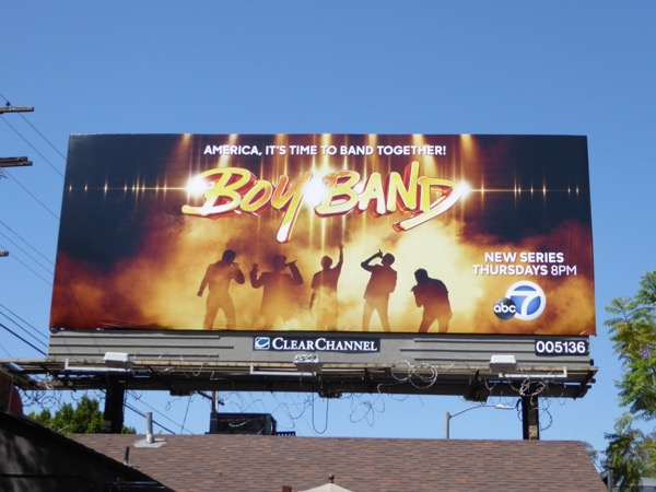 Boy Band series premiere billboard