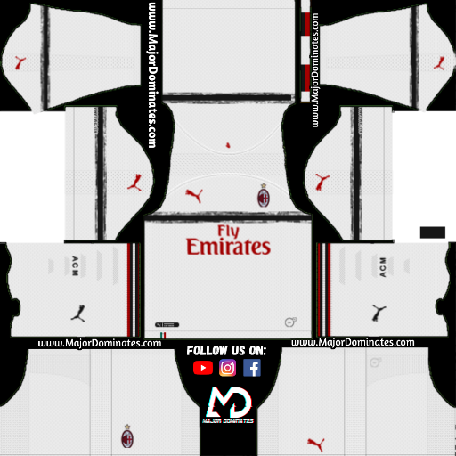 quality design 63599 7723e AC Milan Kit 2019-20 Dream League Soccer - Dls kits