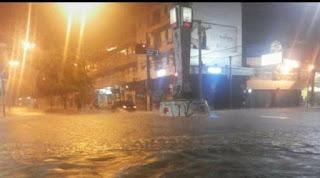 Muita chuva em Patos na noite desta sexta-feira (15). Veja o índice de algumas cidades da região