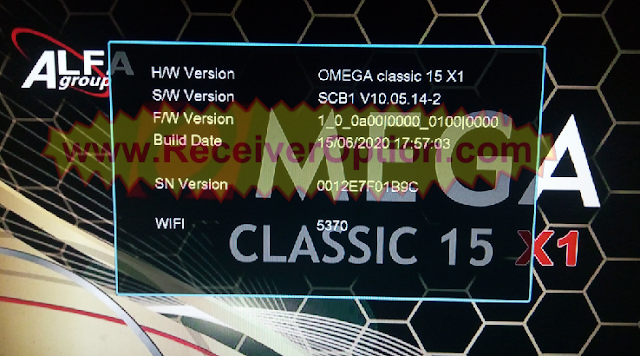 OMEGA CLASSIC 15 X1 1506TV 512 4M NEW SOFTWARE WITH ECAST OPTION