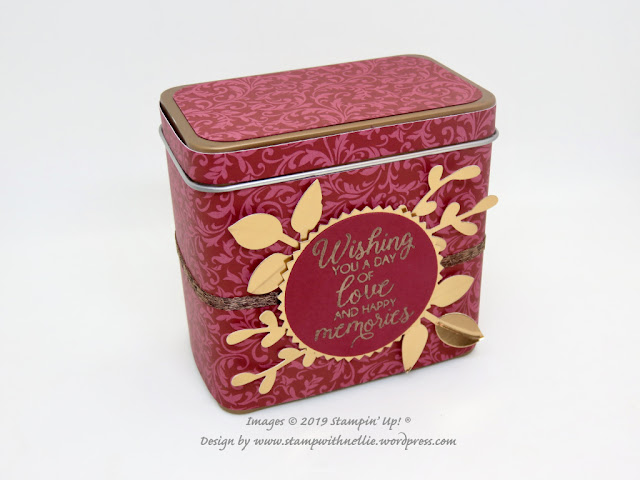 Copper Tea Tins Stampin Up