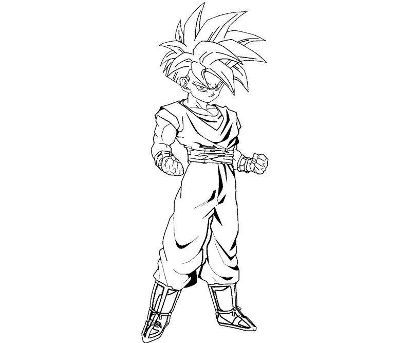 gohan coloring pages Printable Gohan Coloring Pages | Coloring Pages gohan coloring pages