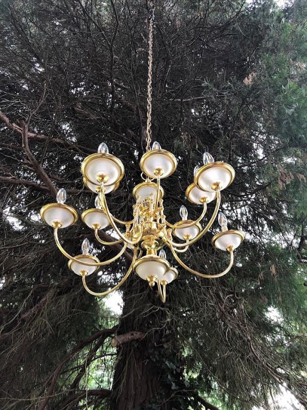 Outdoor Wedding chandelier