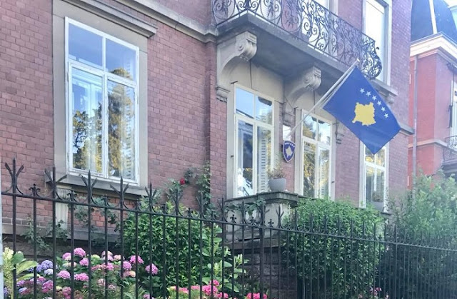 Kosovo's General Consulate in France attacked, the Flag is stolen
