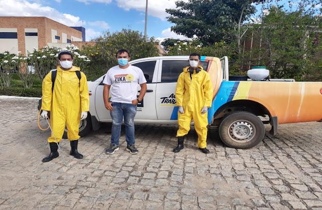 Campus Cuité da UFCG passa por processo de desinfecção
