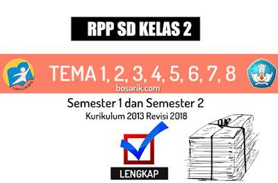 RPP Kelas 2 SD Tema1, Tema2, Tema3, Tema4, Tema5, Tema6, Tema7, Tema8 Lengkap