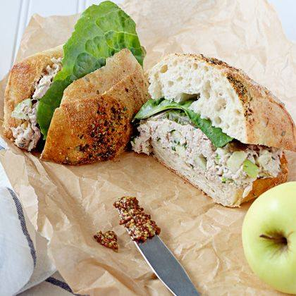 Apple and Smoked Chicken Salad Sandwiches