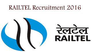 RailTel Recruitment 2016 Assistant Engineer