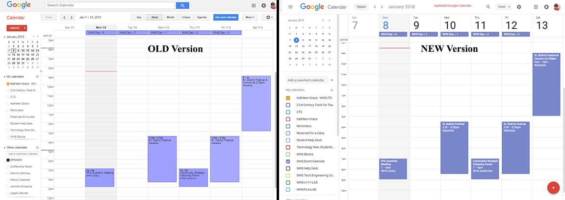 Whats New On Calendar >> Wps Tech Ed Meet The New Google Calendar