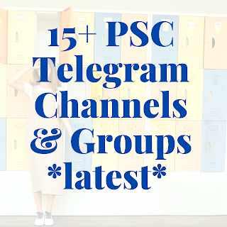 Psc Telegram Channel & Groups 50+ [Latest]