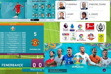 PATCH PES 2020 MOBILE EURO 2020 BY IDSPHONE V4.6.0 (OBB+CPK)