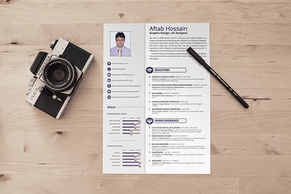 TIPS COM Free 2 Page Resume Template Design