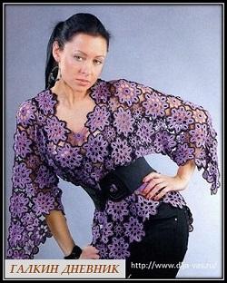 bluza kryuchkom iz motivov
