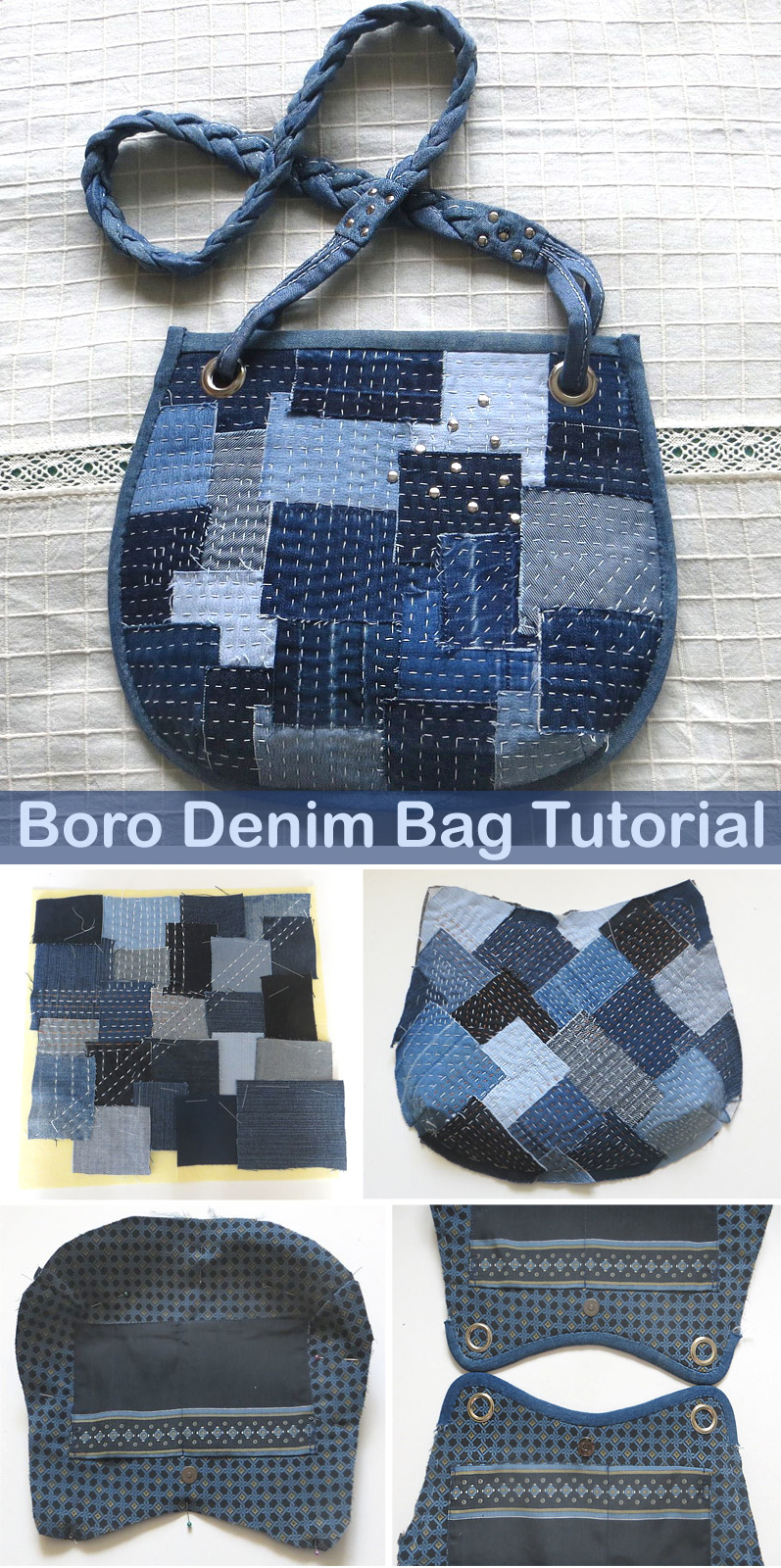 Boro Denim Bag Tutorial