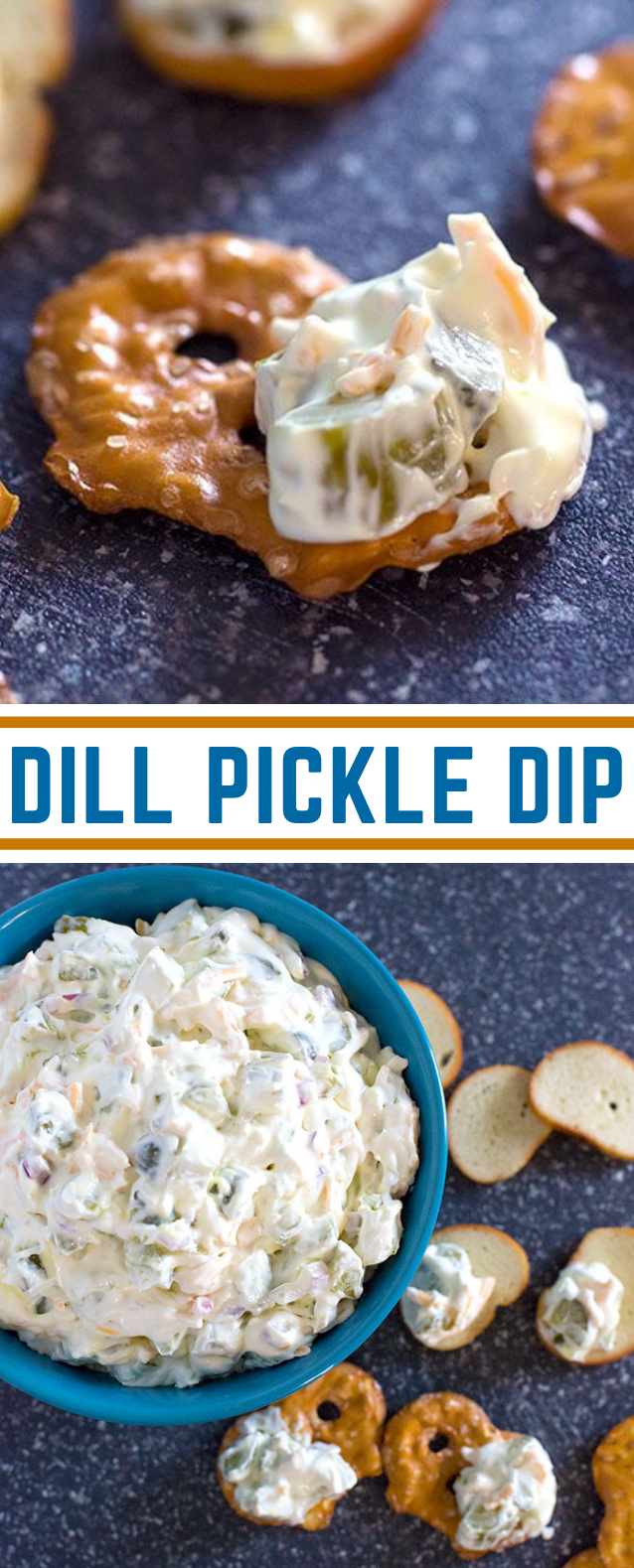 DILL PICKLE DIP #appetizer #brunch