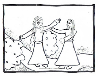 Ray-Chill's World: The Joyful Mysteries~Coloring Pages~By