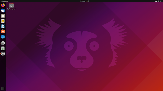 Ubuntu 21.10 área de trabalho nomeado de Impish Indri