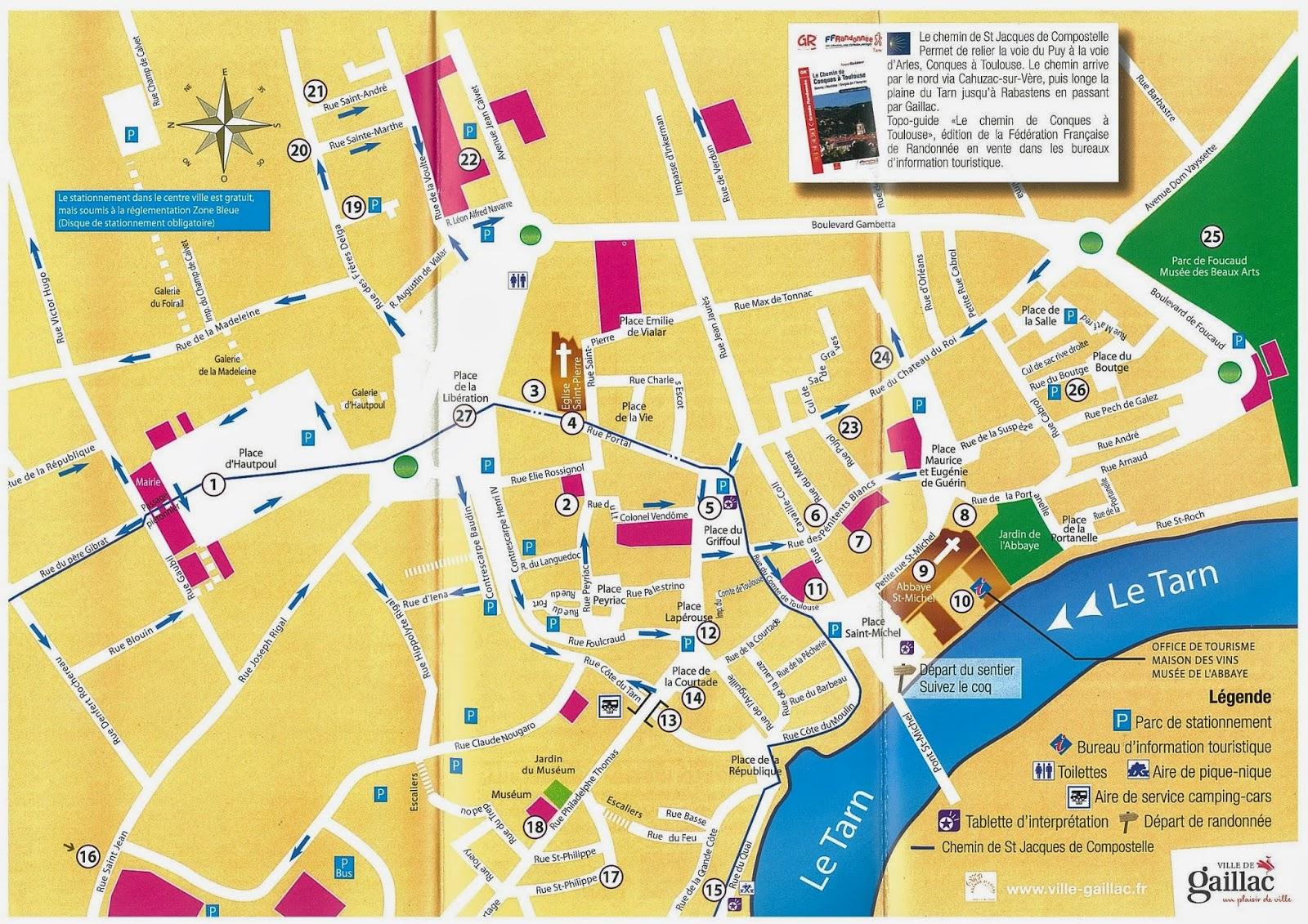 Mapa de Gaillac, Francia
