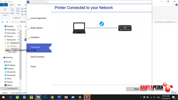Cara Install dan Setting WiFi Printer Epson L5190
