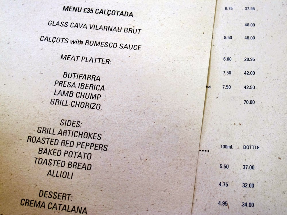 Calcotada set menu lunch at Tramontana in Shoreditch
