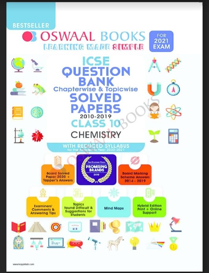 ICSE : OSWAL Chemistry Latest Edition 2021