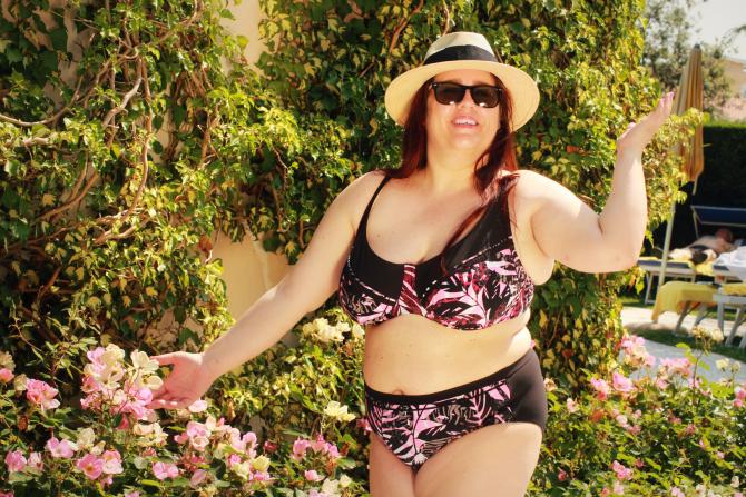 bikini plus szie stampa tropicale sorrento triumph