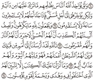 Tafsir Surat An-Nahl Ayat 61, 62, 63, 64, 65