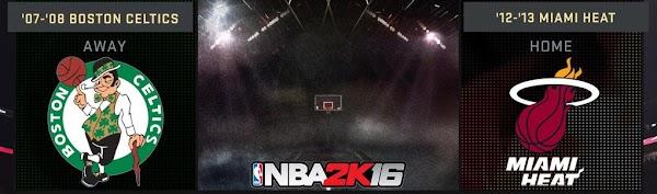 NBA 2k16 : 2008 Celtics and 2013 Heat Added in NBA 2k16