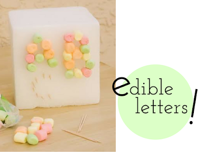 Edible Letters- Keep Kids Busy with Practical Mom