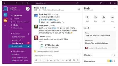 Slack introduces Huddles audio service