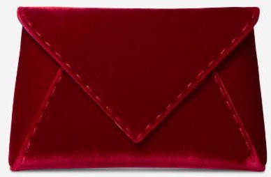 Tyler Ellis Lee Clutch in Red Velvet