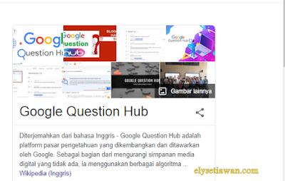 google question hub tempat bahan menulis blog
