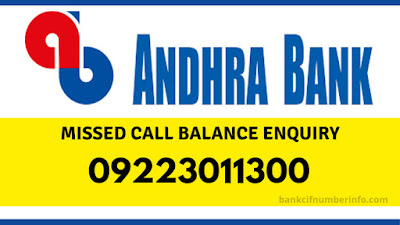 Andhra Bank mini statement by missed call