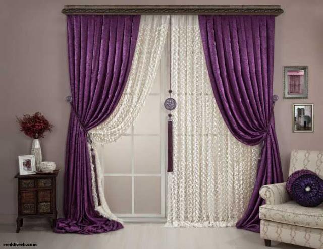 modern purple curtain designs 2016