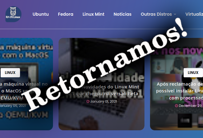O Blog RikerLinux está de volta! 😃