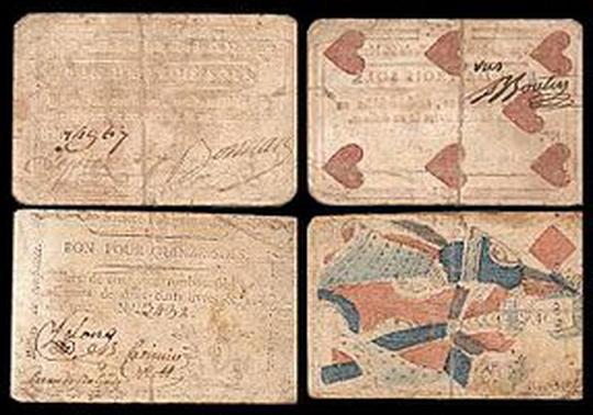 Первые бумажные деньги  Канады