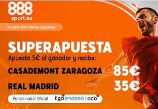 888sport superapuesta acb Zaragoza vs Real Madrid 1 diciembre 2019