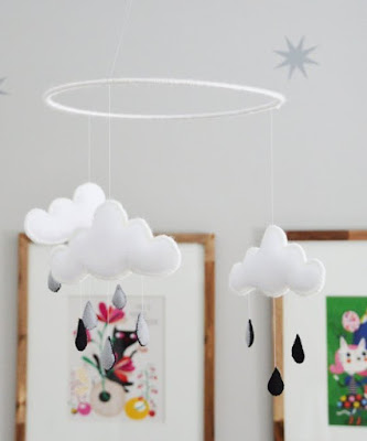 http://www.apartmenttherapy.com/tutorial-how-to-make-a-cloud-nursery-mobile-199411