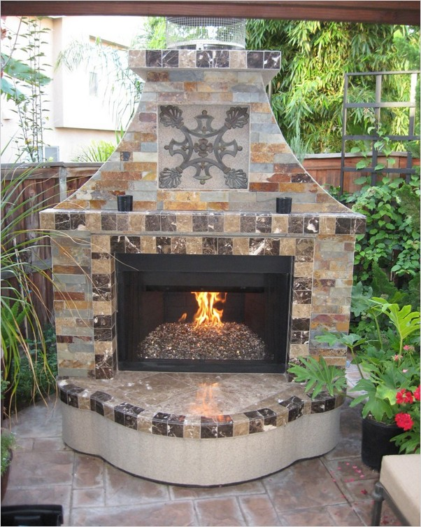 Outdoor Electric Fireplace Home Interior Exterior Decor Design Ideas