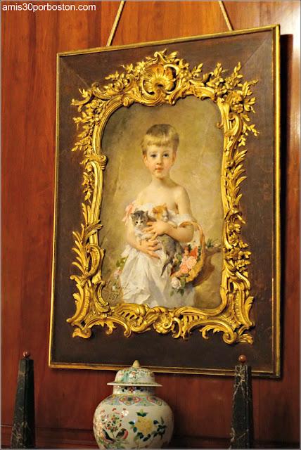 Retrato de Harold en el Salón Matutino y Biblioteca de Marble House, Newport